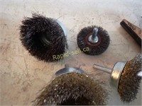 "4"" Cylinder Hone & Five Drill Brushes"