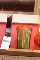 leaded & Colored art Glass Vases - 4 Pc