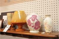 Heager Vases on Shelf  4 Pc Pottery & Ceramic