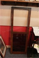 Wood & Glass Doors W/Red Glass - 3 Pc