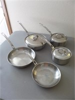 Set of Viking Stainless Steel Cookware