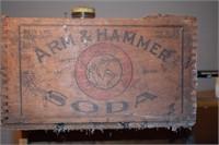 Arm & Hammer Soad Wooden Box