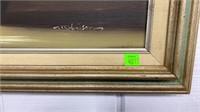 Framed Oil On Canvas 26x21