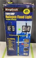 Kingcraft Twin Lamp Halogen Flood Light Untested