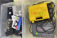2 Totes Of Assorted Electronics