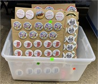 Tote Of Assorted Political Buttons