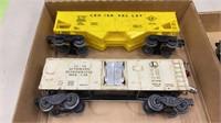 2 Flats Of Assorted Lionel Train Carts