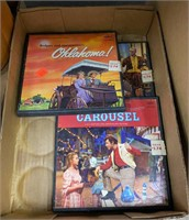 3 Foam Pumkins, Flat Of Records, Box Of Vhs Tapes