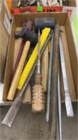 4 Flats Of Assorted Handtools, Drill Bits,