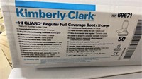 6 Boxes Of Kimberly-clark Assorted Boot Covers