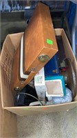 3 Boxes Of Misc. Decor, Softgoods, Keyboard