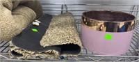 Blanket, Floor Mat, Pink Bowl