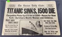 The Boston Daily Globe Article April 16, 1912