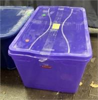 2 Purple Plastic Totes