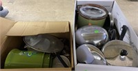 2 Boxes Of Used Cookingware/kitchenware