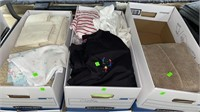 3 Boxes Of Assorted Clothing, Softgoods