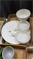 7 Flats Of Glassware, Dishes, Decor., Wood Bowl
