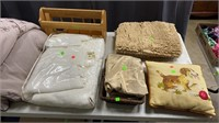 Tabletop Of Bedding, Softgoods, Decor. Pillow