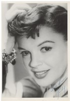 Judy Garland 5 X 7 Signed Portrait