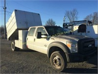 2011 FORD CREW CAB W/ SOUTH CO ELECTRIC DUMP CHIP