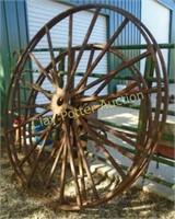 Large iron wheels