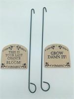 Humorous Garden Stakes Set