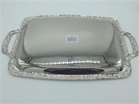"Nickel Plated Serving Tray 14.5"" x 10.5"""