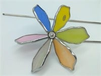 Stained Glass Windmill Yard Decoration