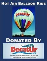 Hot Air Ballon Ride Donated By