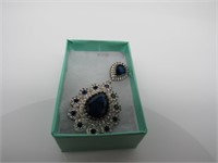 Sapphire & Topaz Pendant