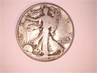 Walking Liberty Half Dollar Coin, Date Unknown