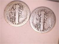1910's Mercury Dimes (8)