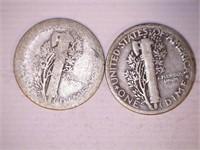 1920's Mercury Dimes (9)