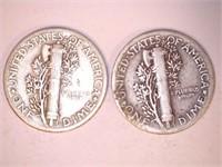 1930's Mercury Dimes (9)