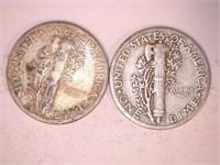 1940's Mercury Dimes (9)