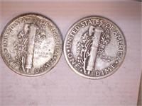 1940's Mercury Dimes (8)