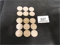 1948 & 1949 Jefferson Nickels; '48-(6); '49-(9)