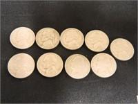 1953 & 1954 Jefferson Nickels (18)