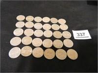 1974 Jefferson Nickels; (30)