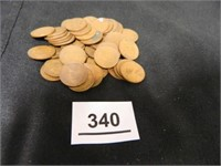 Wheatback Pennies; (50); Assorted Years