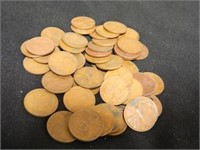 Wheatback Pennies; (50); Assorted Years