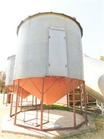 Eaton Cone bottom grain bin, 12ft bin plus 5ft con