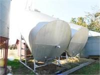 210 barrel slant grain bin on skid, partial cat wa