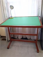 "Puzzle Work Table with Lamp 36"" x 26.5"" x 32.5"""