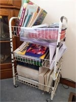 Small Rolling Rack with Books : Bible, First Aid,