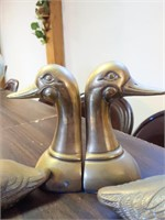 """Brass Duck Book Ends 3.5"""" and 6"""""""