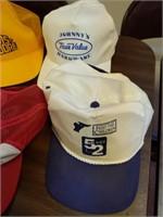 (5) Hats : Davis Moore, Johnny's True Value