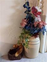 "Squirrel Planter 11"" and Vase 17"""