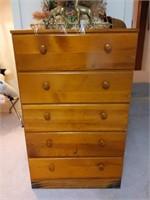"5-Drawer Dresser 26.5"" x 15"" x 43.5""   -"