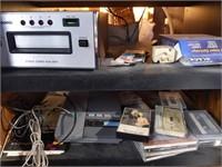 Rolling Media Cabinet, Panasonic Cassette/AAM/FM
